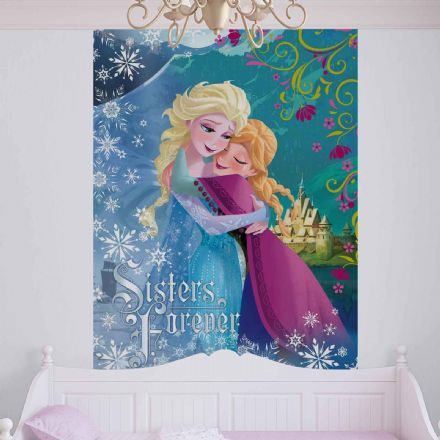 "Wallpaper mural Anna and Elsa ""Frozen"""